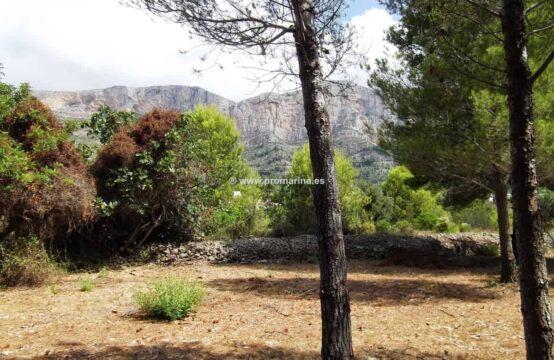 Vente grand terrain à Javea Montgó, il a 3075 m2. surface