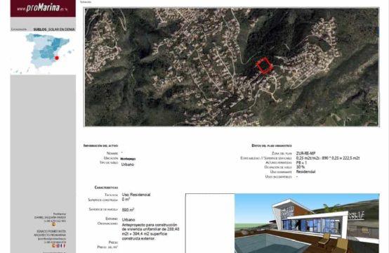 PRO1652<br>Solar en Montepego de 890 m2