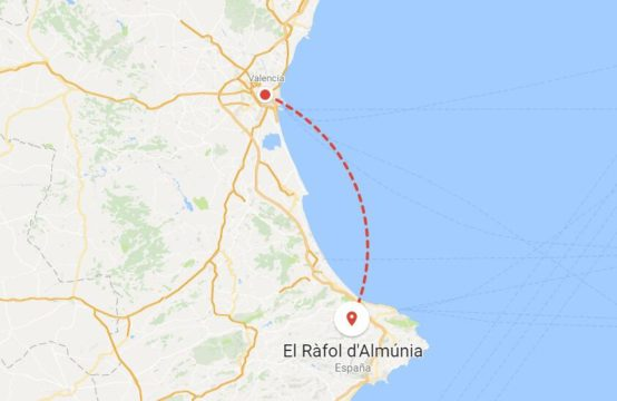 Terrain dans le Ràfol d&#8217&#x3B;Almúnia. Terrain à El Ràfol d&#8217&#x3B;Almúnia avec une vue imprenable et projet pour 16 maisons de ville