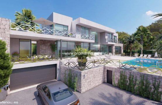 PRO2204C<br>Villa en primera línea en Calpe con espectaculares vistas al mar